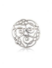 Triple Spiral Pewter Brooch